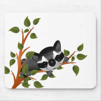Racoon in a Tree Mouse Pad