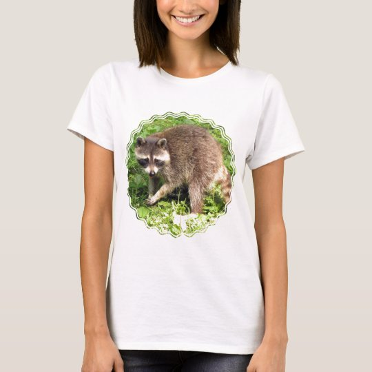 Racoon Ladies Fitted T-Shirt