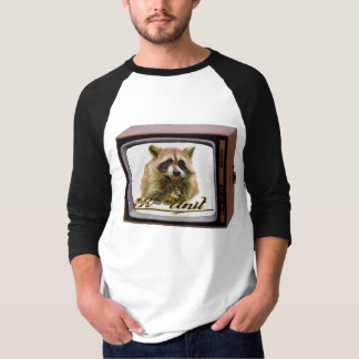 Racoon on a tv T-Shirt