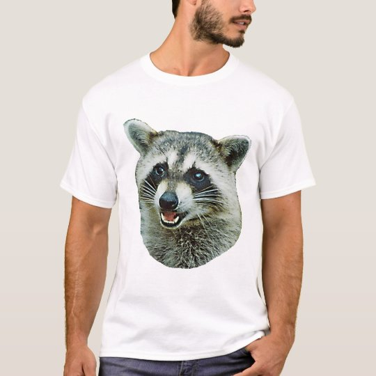 Racoon Picture Ringer T-Shirt