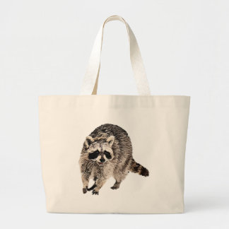 Racoon plain jumbo tote bag