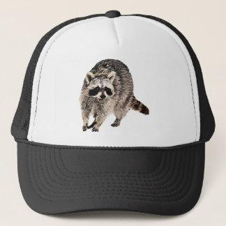 Racoon plain trucker hat