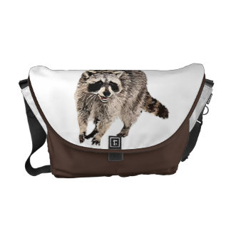Racoon plainRickshaw Messenger Bag