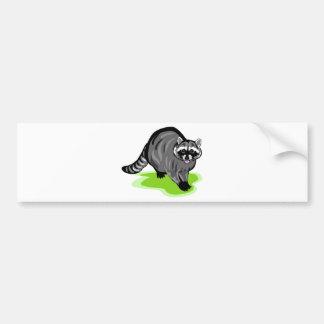 Racoon.png Car Bumper Sticker
