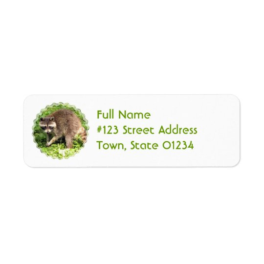 Racoon Return Address Mailing Label Return Address Label