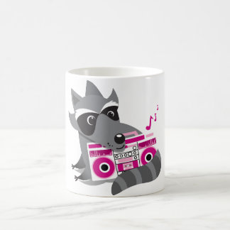 racoon rock coffee mug