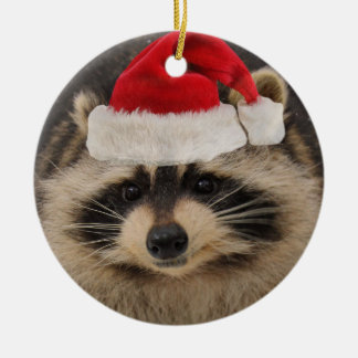 Racoon Santa ornament