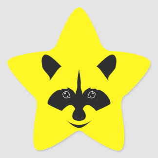 Racoon Star Sticker