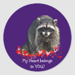 Racoon Valentine Stickers