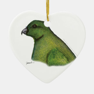 racquet tailed parrot, tony fernandes christmas ornament