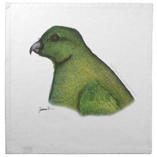 racquet tailed parrot, tony fernandes napkin