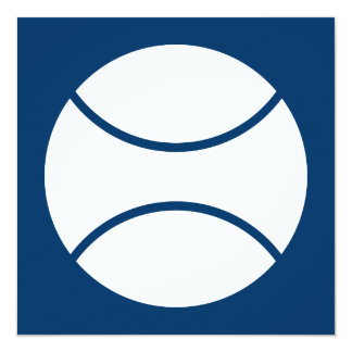racquetball 13 cm x 13 cm square invitation card