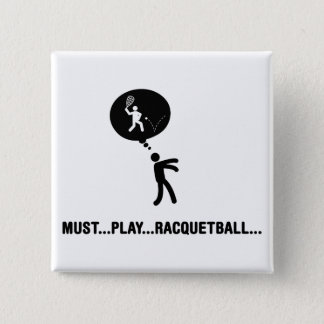 Racquetball 15 Cm Square Badge