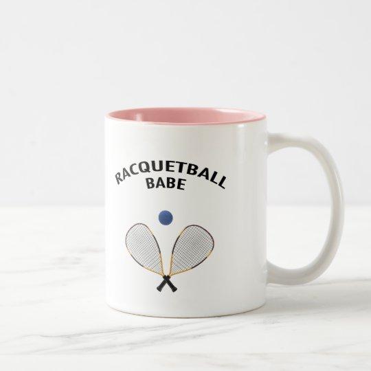Racquetball Babe Two-Tone Coffee Mug