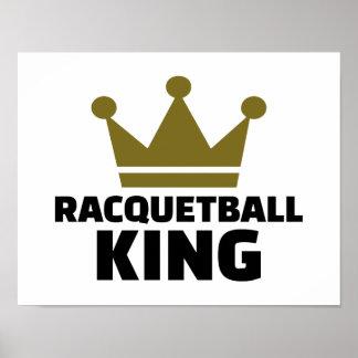 Racquetball king poster