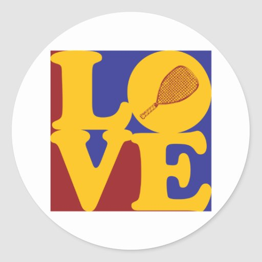 Racquetball Love Round Stickers