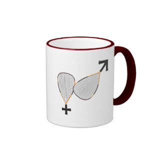 Racquetball Mars Venus Coffee Mugs