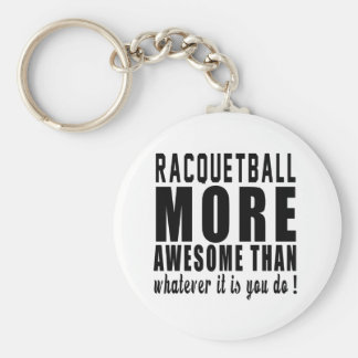 Racquetball more awesome than whatever it is you d basic round button key ring