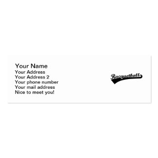 Racquetball Pack Of Skinny Business Cards