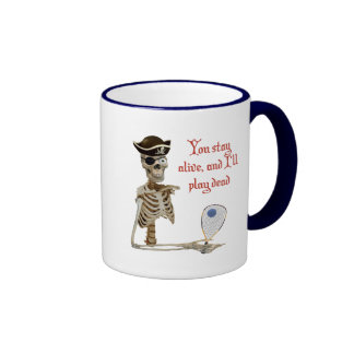 Racquetball Pirate Stay Alive Ringer Mug