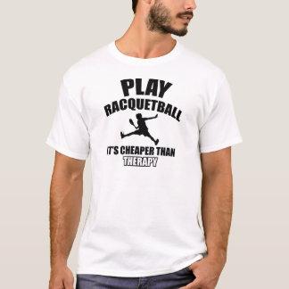 Racquetball player designs T-Shirt