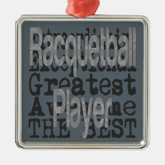 Racquetball Player Extraordinaire Silver-Colored Square Decoration