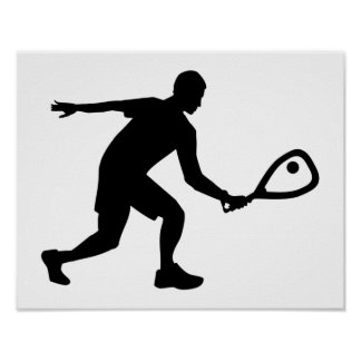 Racquetball player poster
