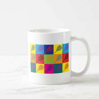 Racquetball Pop Art Basic White Mug