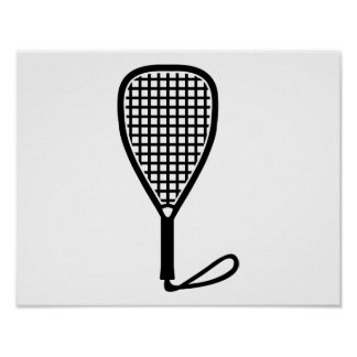Racquetball racket poster