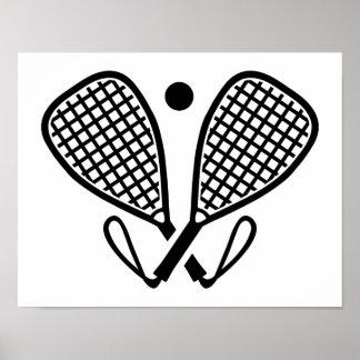 Racquetball rackets poster