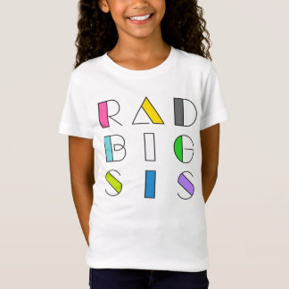 Rad Big Sister 1980's Hipster Style Family Tee