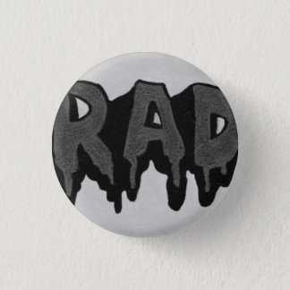 'Rad' Black and White Grunge Badge