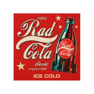 Rad Cola Wood Print