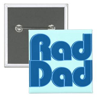 Rad Dad 15 Cm Square Badge