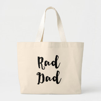 Rad Dad! for Father's Day Jumbo Tote Bag