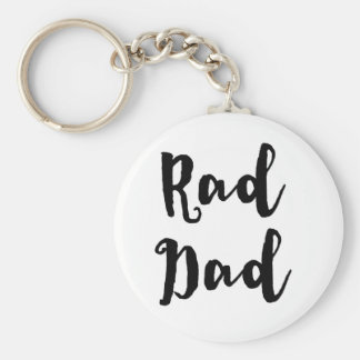 Rad Dad! for Father's Day Basic Round Button Keychain
