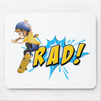 Rad flash mouse pad