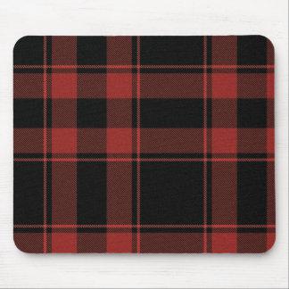 Rad Plaid Black n Red Mousepad