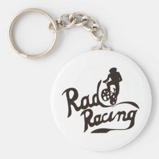 rad racing basic round button key ring