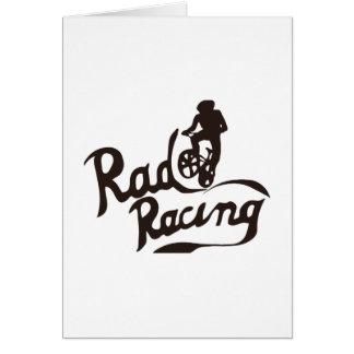 rad racing greeting card