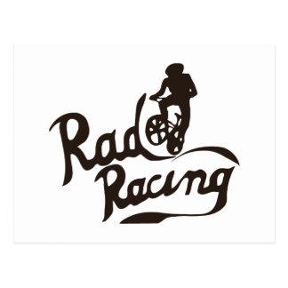 rad racing postcard