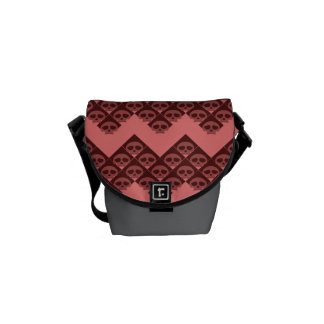 Rad Raspberry Skulls Courier Bag
