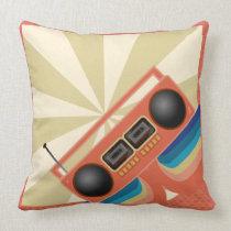 Rad Retro Boombox Radio Cushion
