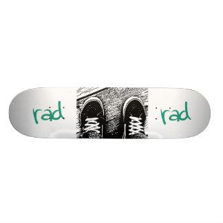 Rad skate shoe design skateboard deck