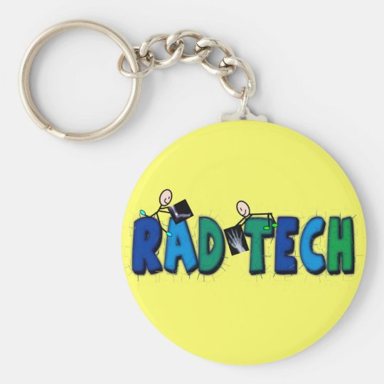 Rad Tech With Stick People and Xrays Design Key Ring