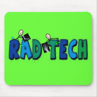 Rad Tech With Stick People and Xrays Design Mouse Mat