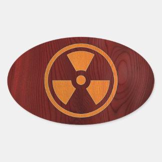 Rad Wood Oval Sticker