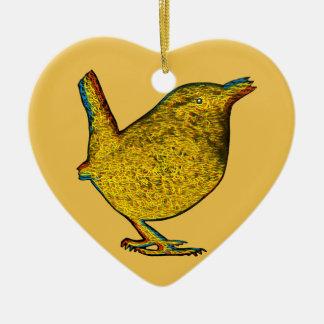 Rad Yellow Bird Christmas Ornament