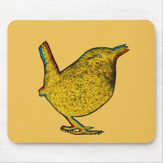 Rad Yellow Bird Mouse Mat