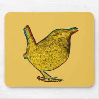 Rad Yellow Bird Mouse Pad
